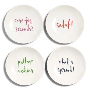 Kate Spade Tidbits Plates x4